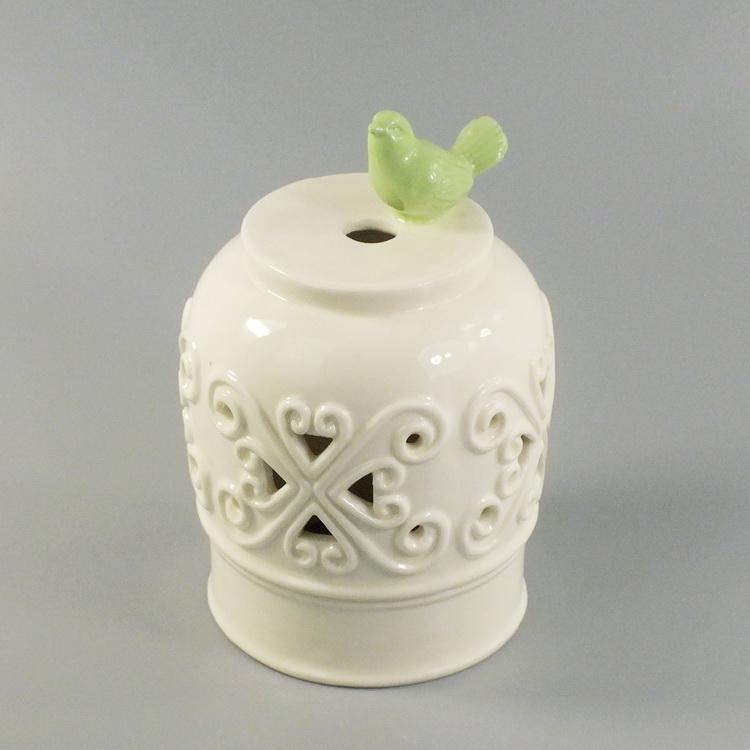 aroma diffuser porcelain bird cover