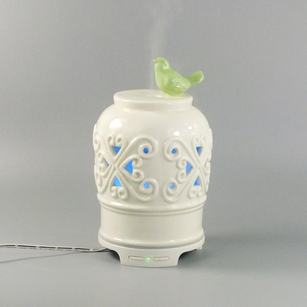 aroma diffuser porcelain bird