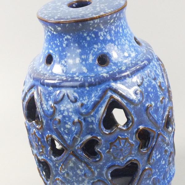 Aroma Diffuser Ceramic Blue Vase medium details