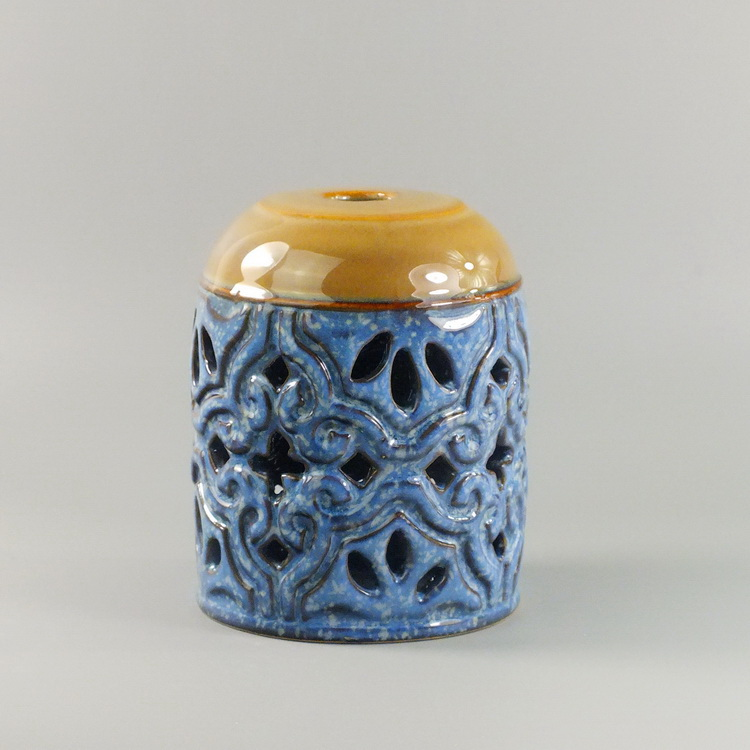 Aroma Diffuser Ceramic Blue brown pattern details2