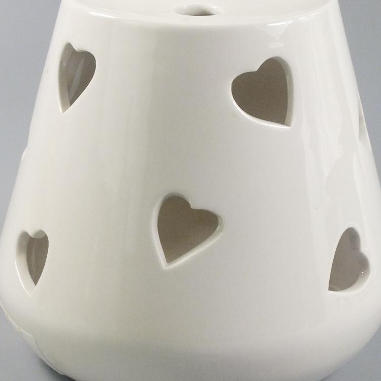 Aroma Diffuser Ceramic White Heart details