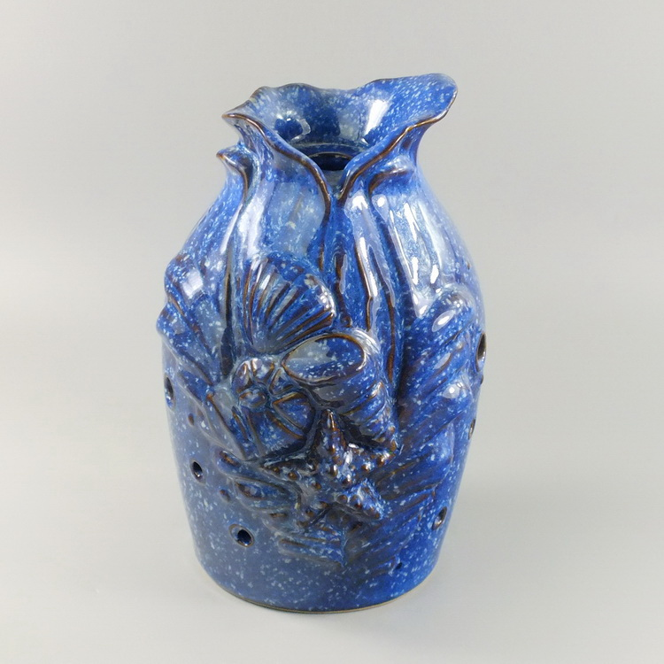 Aroma Diffuser Ceramic shell blue cover