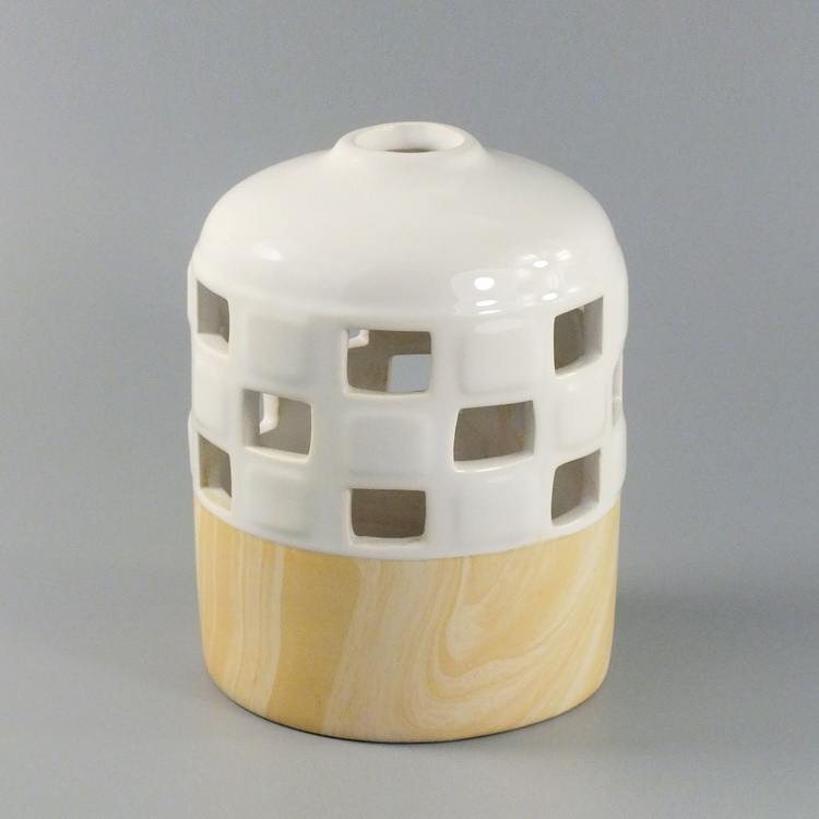 Aroma Diffuser ceramic woodbase small cover