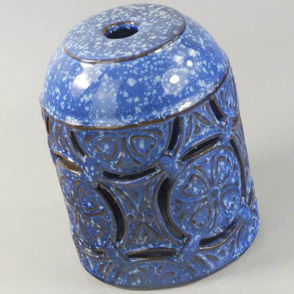 Glazed Blue Aroma Diffuser details