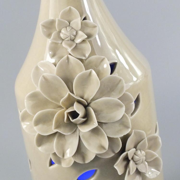 aroma diffuser porcelain kaki flower big details