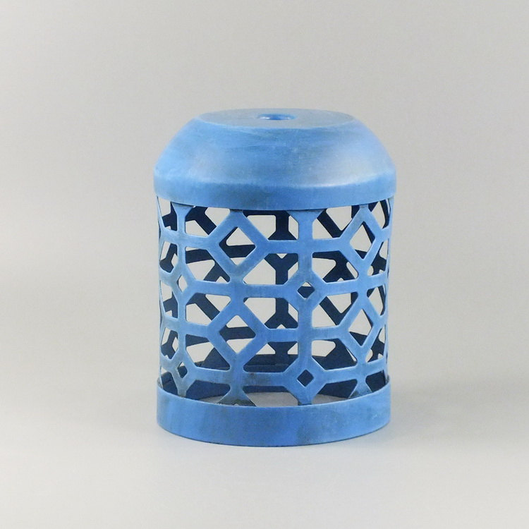 humidifier metal blue geometric cover