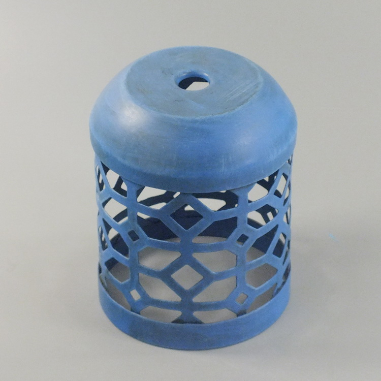 humidifier metal blue geometric details1