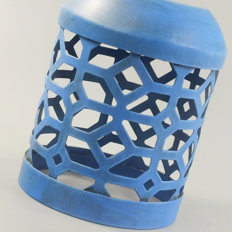 humidifier metal blue geometric details2