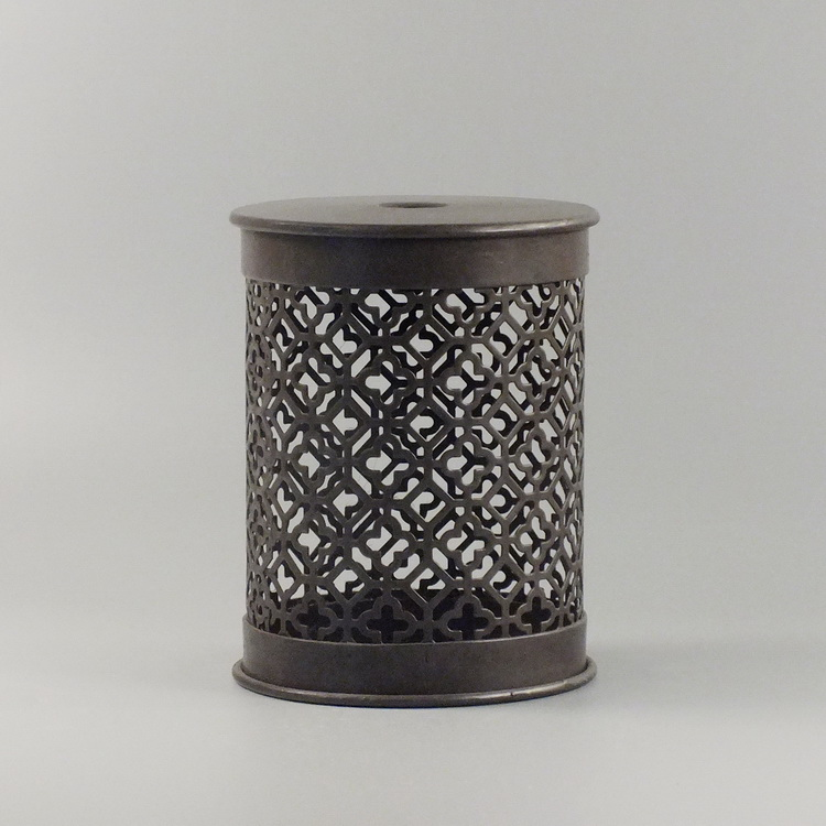 humidifier metal brown meander pattern cover