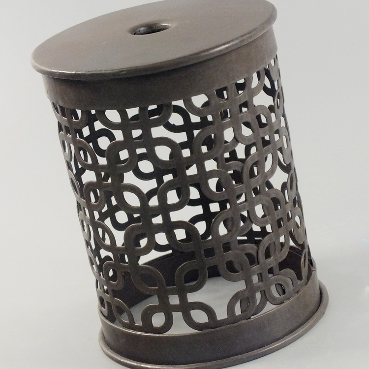 humidifier metal brown rectangle pattern details2