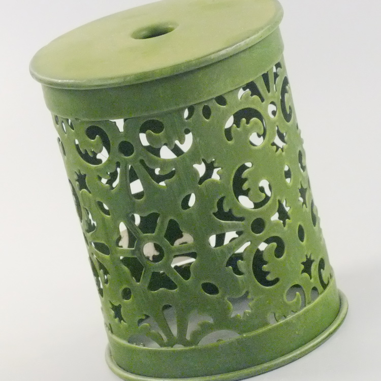 humidifier metal dark green hollowing details