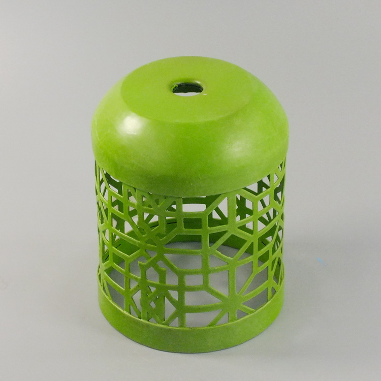 humidifier metal green hollowing details