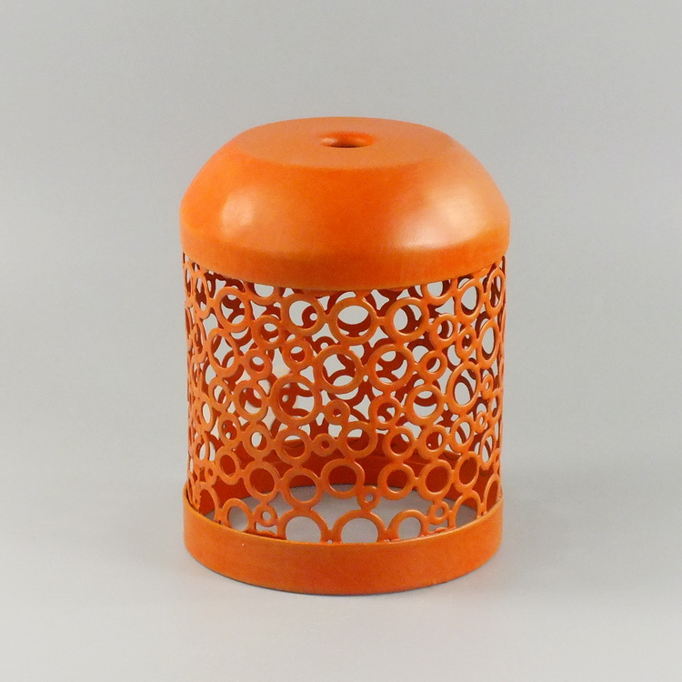 humidifier metal orange round pattern cover